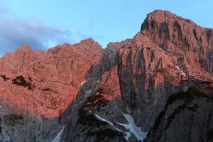 alpenglow vid totenkirchl foto