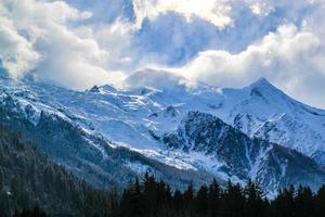 Mount Blanc i Chamonix, Frankrike. foto