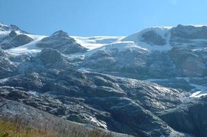 toppar i snön i närheten av Grindelwald i Schweiz
