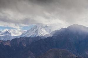 snö bergskedja, leh indien foto
