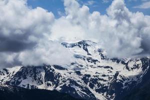 Kaukasusbergen på sommaren, Mestia, Svaneti-regionen, Georgien foto