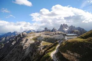 Tre Cime Valley alperna Italien Europa foto