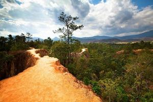 pai canyon, norra Thailand foto