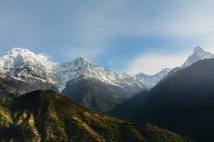 Annapurna bergskedja, Nepal foto