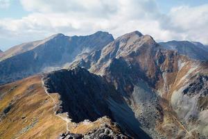 klättring placlive topp vid tatras foto