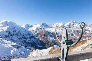 skylt vid Grossglockner-berget i Österrike. foto