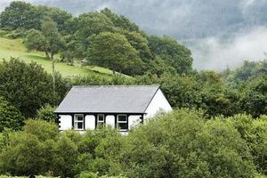 walesiska bergscenen foto