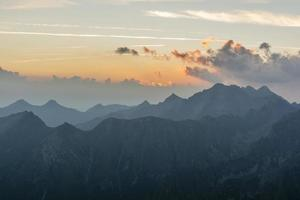 utsikt före soluppgången foto