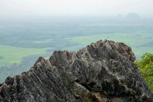 kalkstens toppar i södra Thailand.