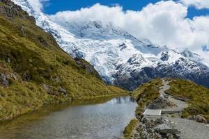 mueller hut rutt Nya Zeeland foto