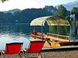 sjön blödde i Slovenien foto