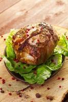marinerad grillad skinka foto