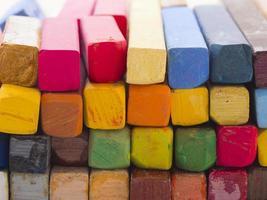 färgglada konstnärliga pasteller foto