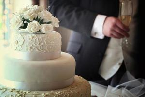 bröllopstårta i
