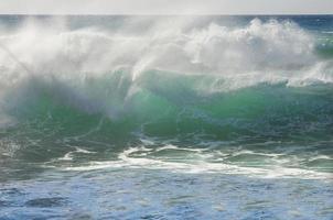 grön våg foto