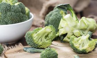 del av rå broccoli foto
