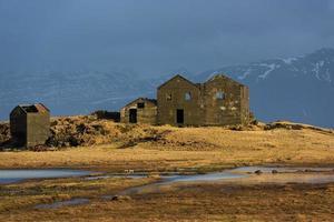 övergiven hus på Island