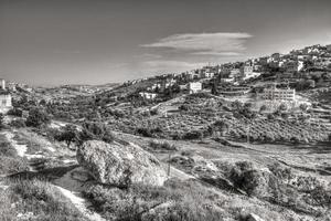 arabiska byn Sur Baher i Jerusalem foto