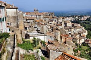 utsikt över caprarola (viterbo - lazio) foto