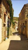 antikt tegelhus i smal gata