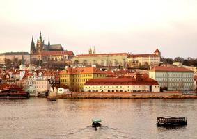 utsikt över staden Prag foto