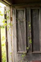 gammalt övergett hus på landsbygden foto
