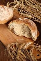 bröd och vete öron foto