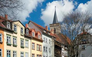 hus på krämerbrücke, erfurt, Tyskland foto