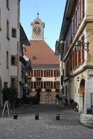 den medeltida byn murten foto