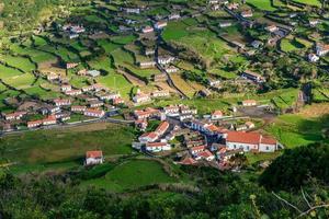 fajazinha, ön Flores, Azores skärgård (Portugal)