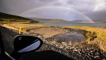 isländska vägar - ranbow foto