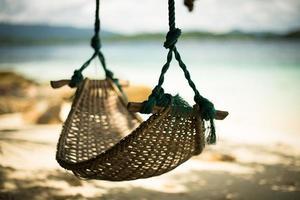 koppla av på en tropisk strand foto