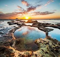 pooler vid Maori Bay foto