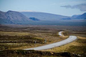 isländska vägar foto