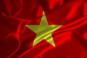 vietnam flagga foto