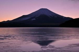 mt fuji efter solnedgången