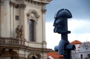 gatubelysning i Prag foto
