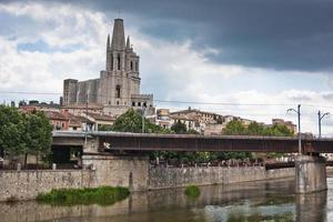 kyrkan Sant Feliu i Girona, Spanien foto