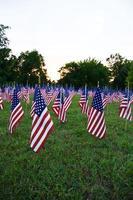 amerikanska flaggor. foto