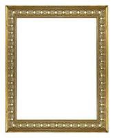 guld bildram. isolerad på vit bakgrund foto