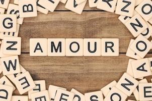 amour - kärlek på franska foto