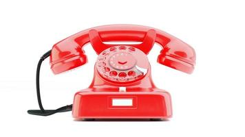 gammal telefon w48 antik röd front foto