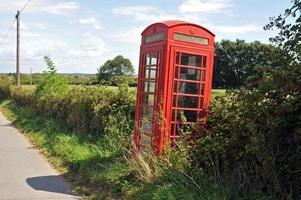 brittisk telefonlåda foto