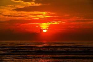 sol, himmel, moln, hav foto