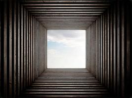 tunnel endeing sky view foto