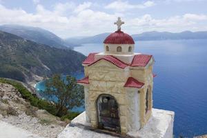 litet kapell i Grekland foto