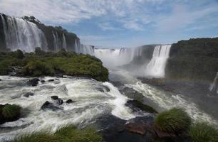 iguazu faller på gränsen mellan Brasilien och Argentina
