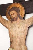 korsfästelse scen av Jesus foto