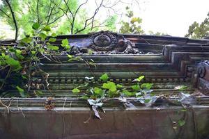 gammal övergiven judisk kyrkogård foto