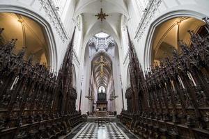 interiörer av katedralen Notre Dame d'Anvers, Anvers, Belgien